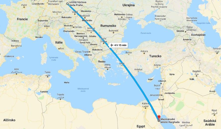 Doba-a-trasa-letu-z-Prahy-do-Hurghady-Egypt