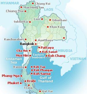 Nejlepšíoblasti s plážemi v Thajsku
