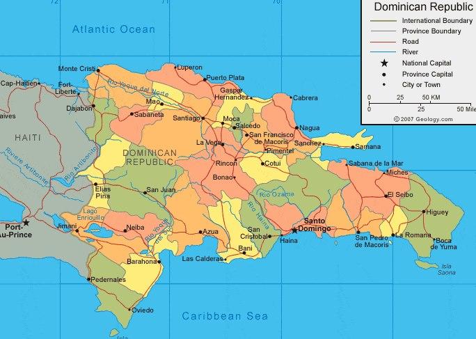 Dominikanska Republika Mapa Ke Stazeni V Pdf I Jpeg Zde