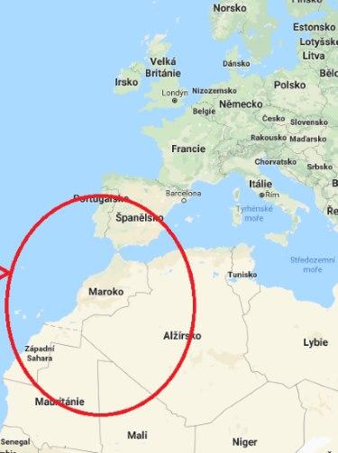 Kde-se-nachází-Maroko-na-mapě-světa