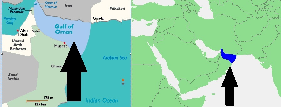 Mapa-Ománského-zálivu