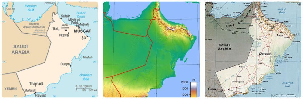 Různé-mapy-Ománu