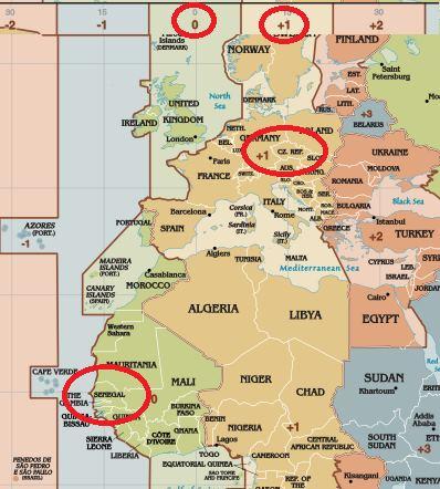 Čas-a-časový-posun-Senegal
