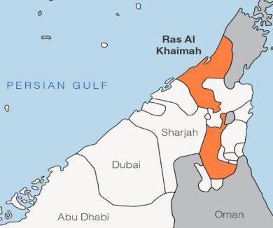 Emirát-Ras-al-Khaimah-na-mapě-SAE