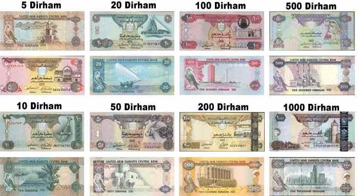 Měna-a-bankovky-v-Dubaji