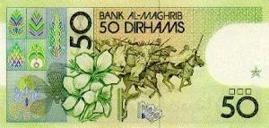 Papírová bankovka 50 dirhamů v Dubaji
