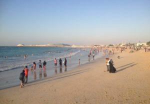 Pláž-u-hotelu-Burj-al-Arab