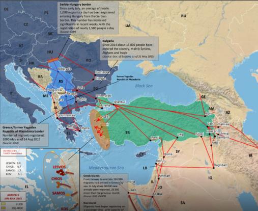Cesta-migrantů přes Řecké ostrovy