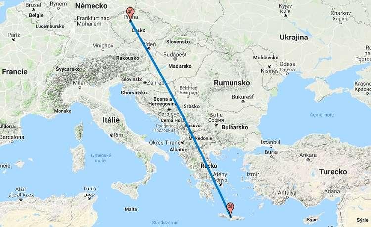 Doba-délka-letu-Praha-Kréta