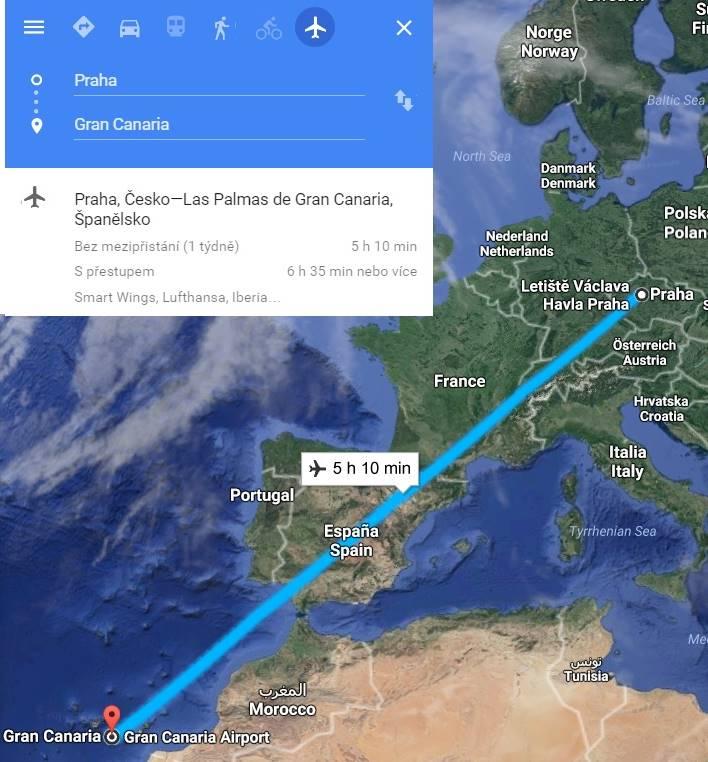 Doba-letu-z-Prahy-na-Kanárské-ostrovy