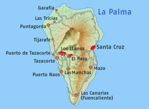 Hlavní město ostrova La Palma Kanárské ostrovy