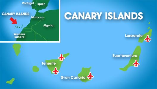 Kde Lezi Kanarske Ostrovy Na Mape Mapa Kde Jsou