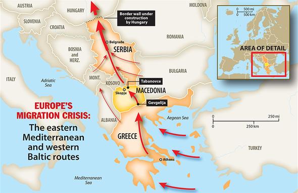 Trasy-migrantů-přes-Řecko