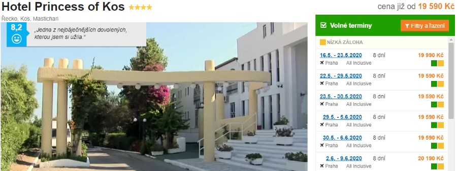 Hotel Princess of Kos recenze Řecké ostrovy