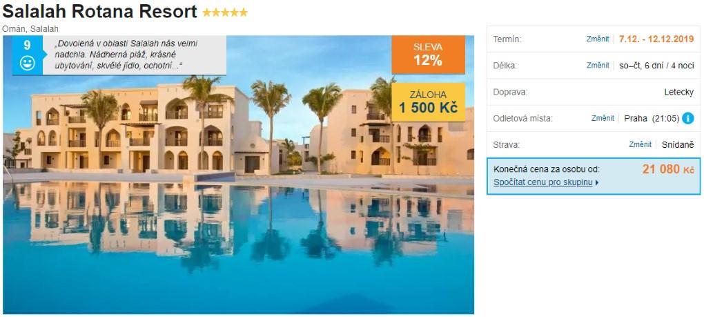 Rotana Salalah resort Omán recenze hotelu