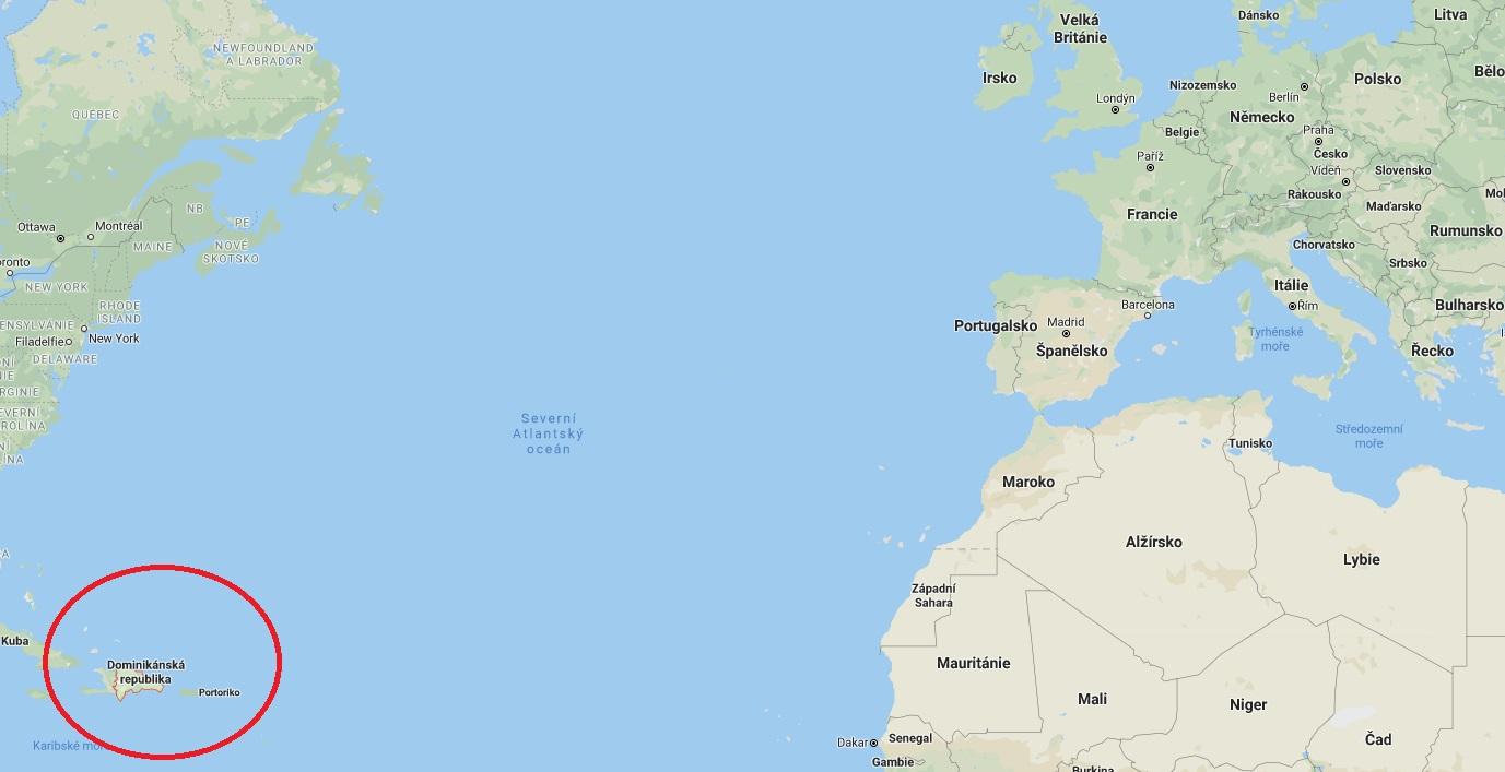 Kde leží se nachází Dominikánská republika na mapě světa