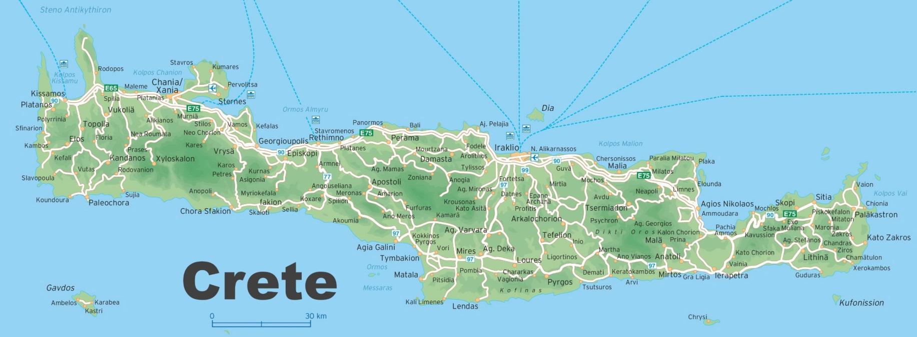 Mapa Kréty